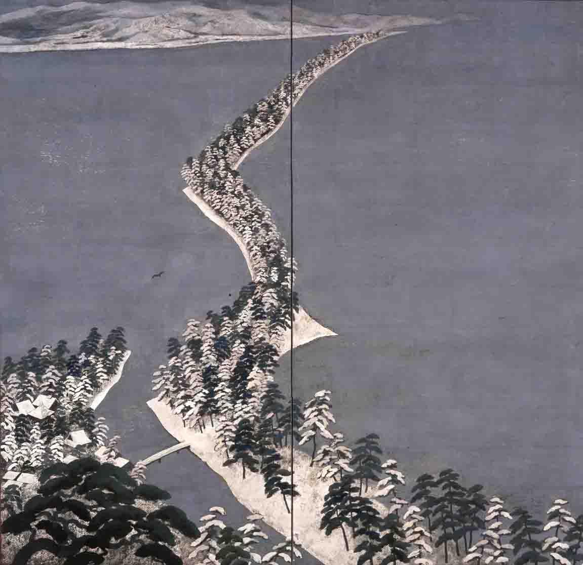 天橋雪後図 1972年 何必館・京都現代美術館蔵