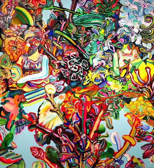 髙木智子(たかぎともこ) タイトル「2つの女の子」|サイズ 1630×1500x40mm 素材 キャンバスに油彩|制作年 2017