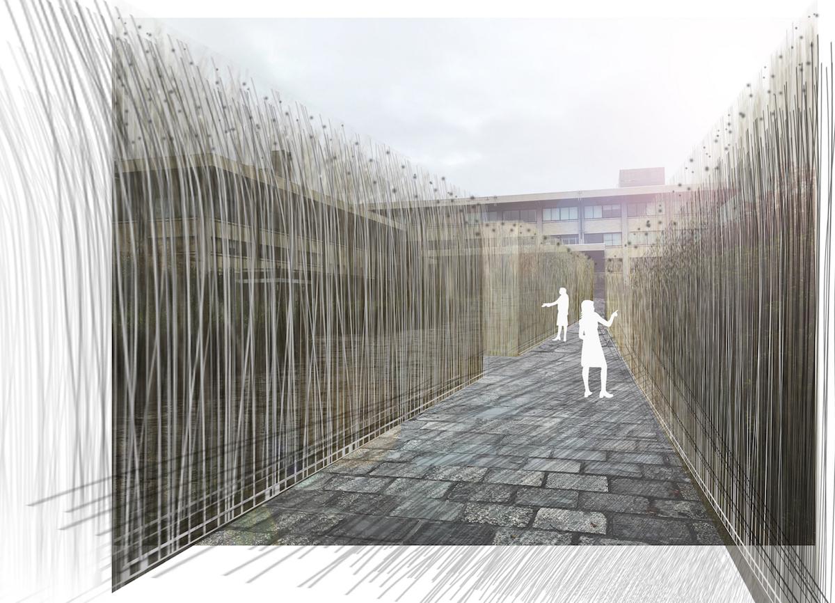 ユージン・ソレール「Kyoto Urban Wind Installation」イメージ図