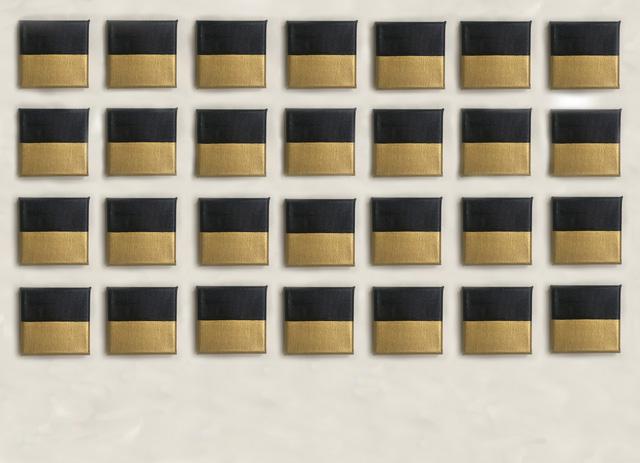 チャン・スジョン 《Derive - 231.Moses》 油彩/キャンバス 10x10cm(28点組) 2020年