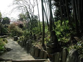 白沙村荘 石造美術 藪の羅漢仏