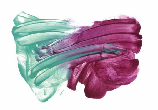 展覧会DM画像 《右手と左手のドローイング グリーンペール×紫》 2017, 紙、顔料、練りこみテンペラ, 272x394 mm